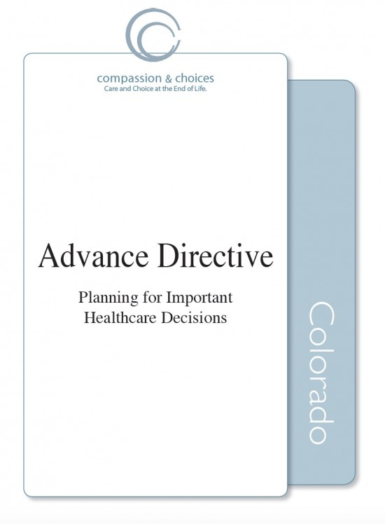 Colorado Living Will Advance Directive