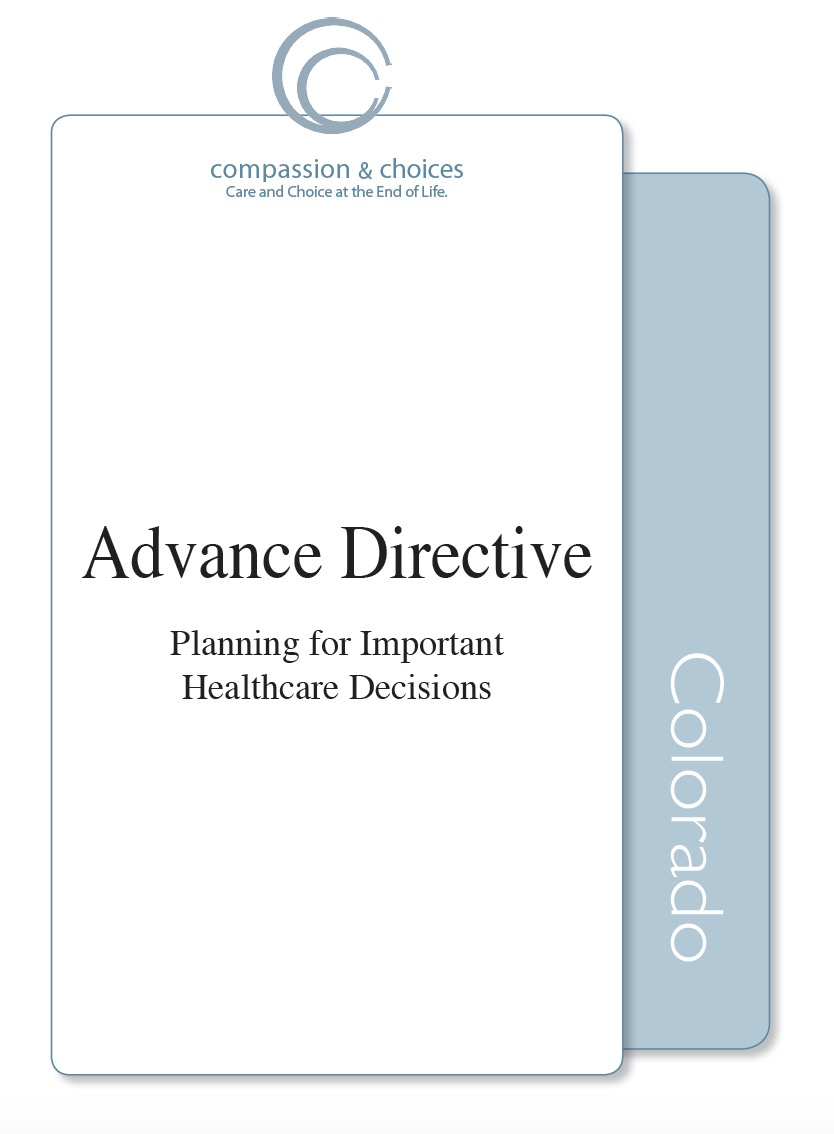 Colorado Living Will Form (Advance Directive) - Living Will Forms ...