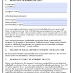 Idaho Durable Medical Power of Attorney Form